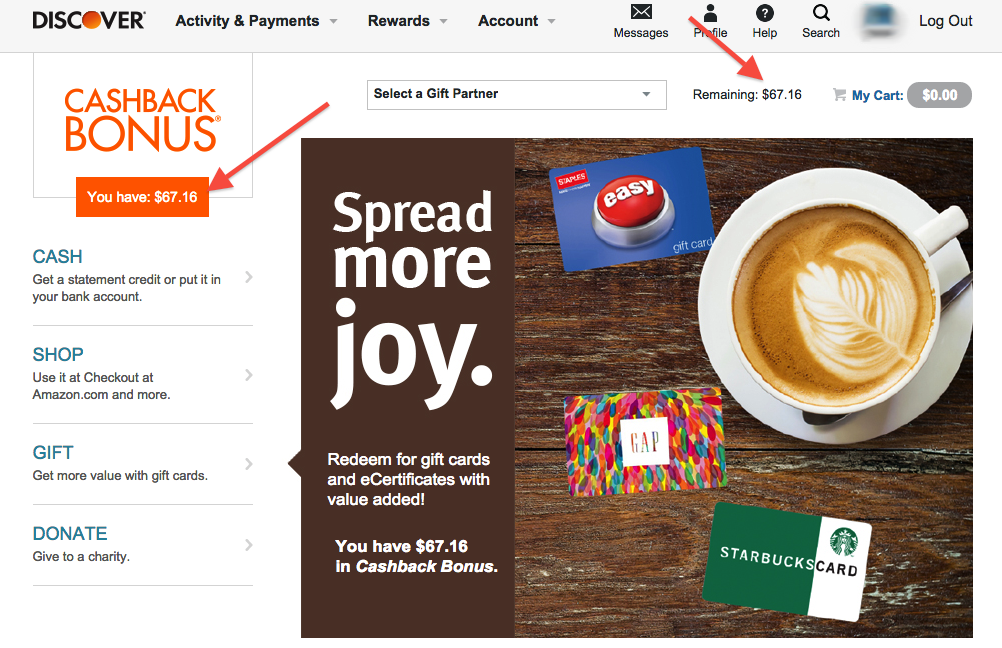 Discover Credit Card Cash Back and Rewards