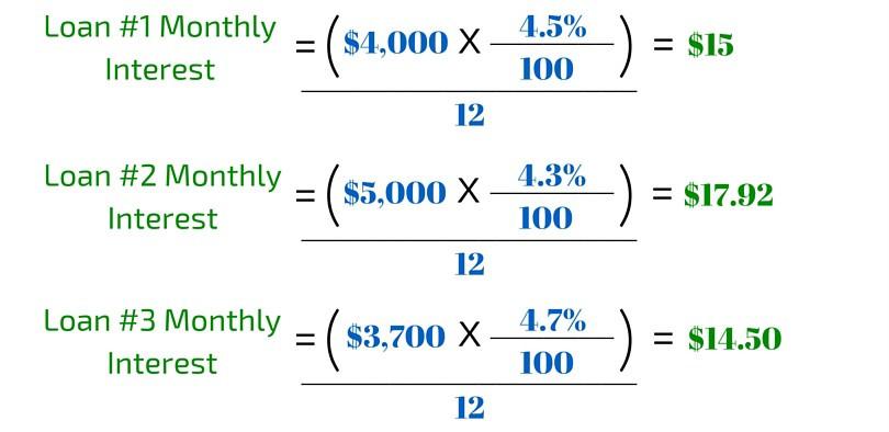 3 Student Loan Calc Example