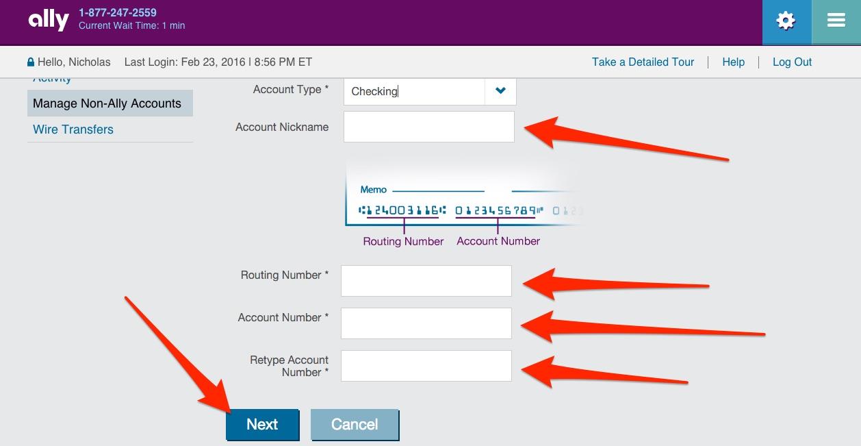 Ally Online Savings Step 26