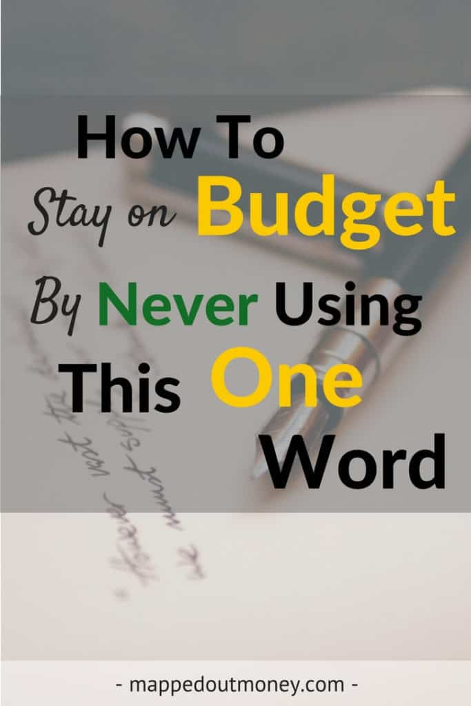 How To Stay On Budget By Never Using This One Word - Tall