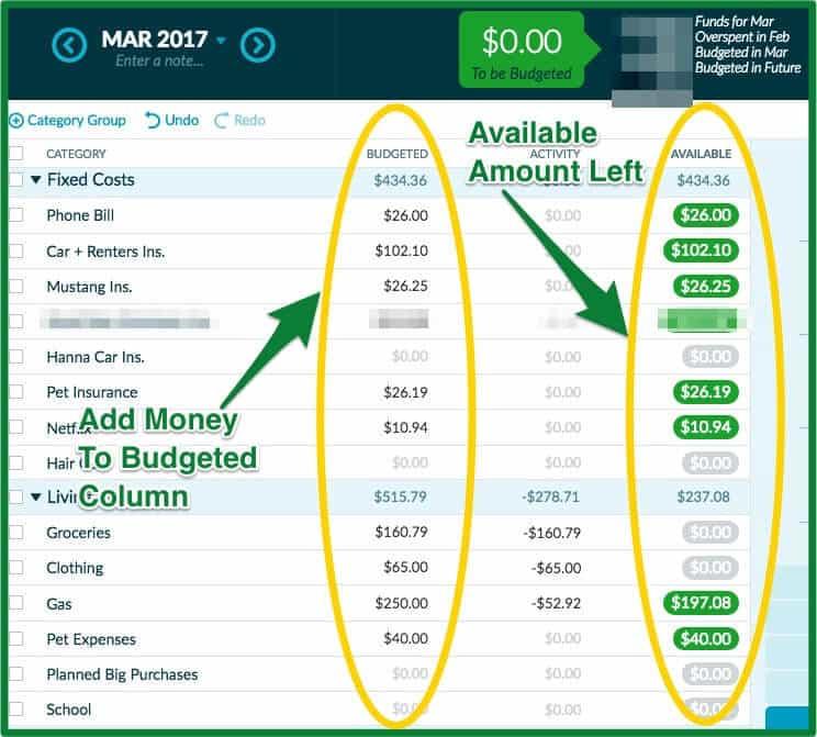 028 - YNAB Review - Add Money Budget