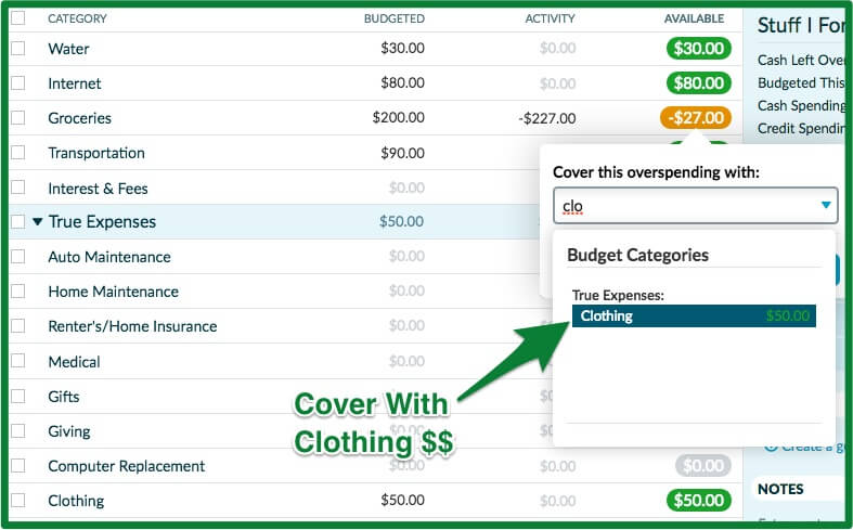 037 - YNAB Review - Overspending Cover